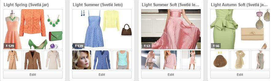 Svetlé farebné typy na Pinterest