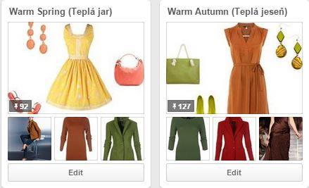 Teple farebne typy na Pinterest - farebná typológia