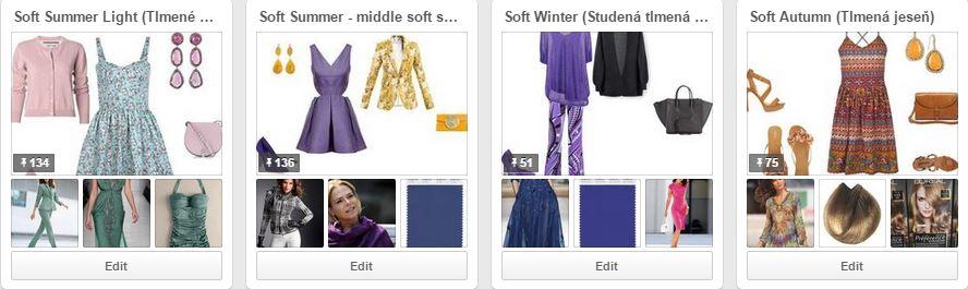 Tlmené farebné typy na Pinterest