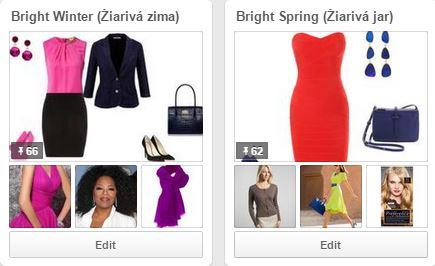 Farebné typy na Pinterest Žiarivá zima, Žiarivá jar - farebná typológia