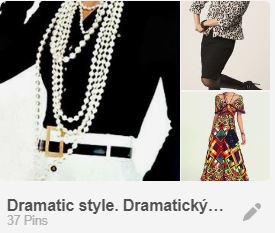 dramatický štýl dámskeho odievania
