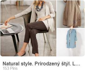 prirodzený štýl dámskeho odievania
