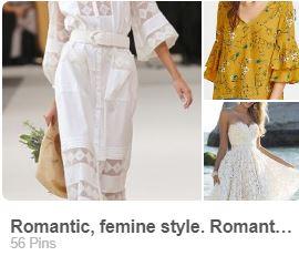 romantický štýl dámskeho odievania