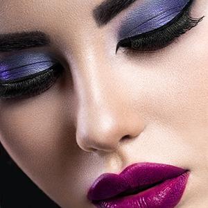 silné farebné líčenie - fotomake-up