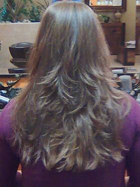 postupný zostirh dlhých vlasov ILS
