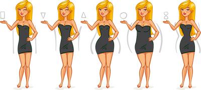typy ženských postáv, strihové poradenstvo aj pre váš typ postavy