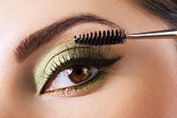 farebné očné tiene - zelené, hnedé oči